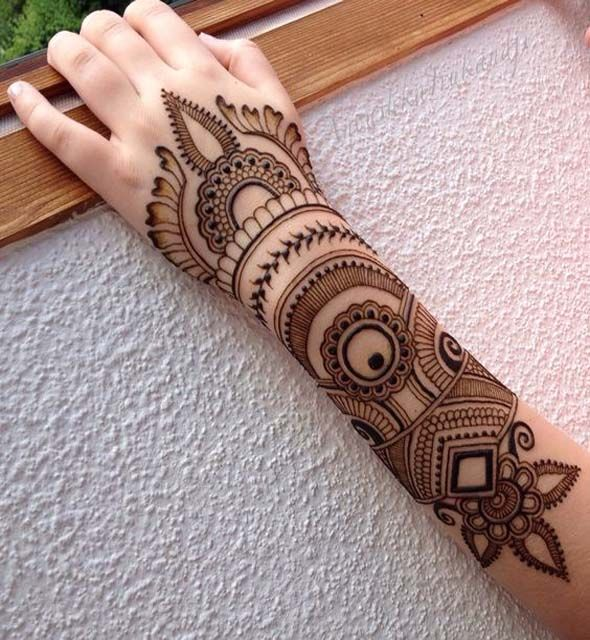 Full Arm Mehndi Design 2018