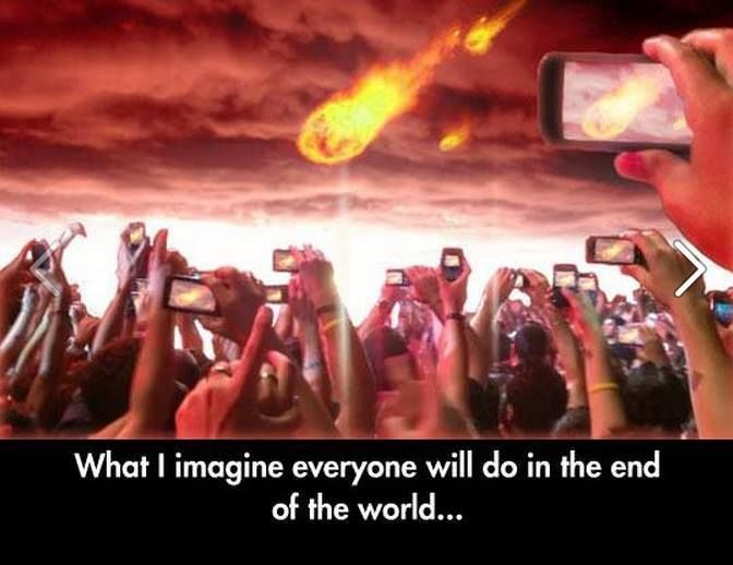 This is the end... be the first to post it on Vine... :P - http://holesinthefoam.us/whatiimagine/