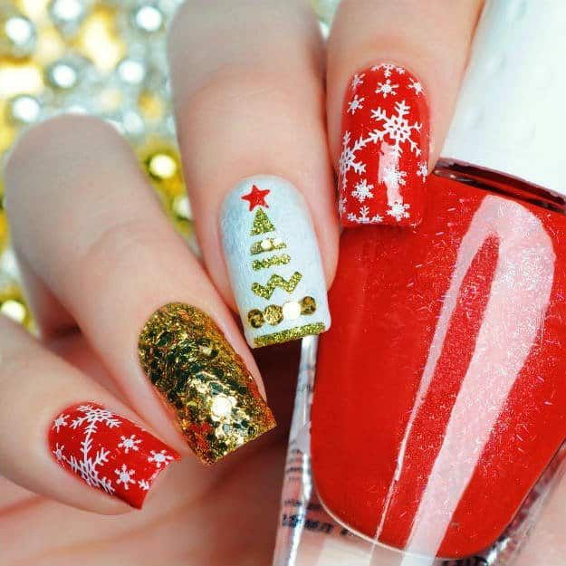 13 Snowflake Nail Art Designs For Winter Snowflake Nail Art