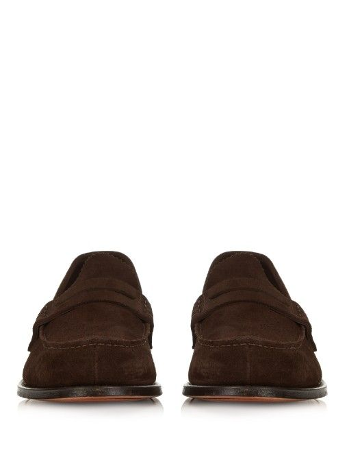 16b24ba1da3 These dark-brown suede Pembrey loafers are part of Church s historic  collection