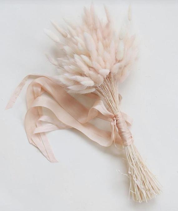 Blush bridesmaids bouquet, bridal bouquet, dried flower bouquet, wedding bouquet