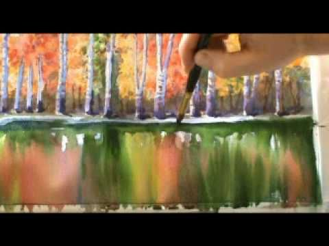 Watercolours Painting Demonstration By Scottish Artist And Tutor