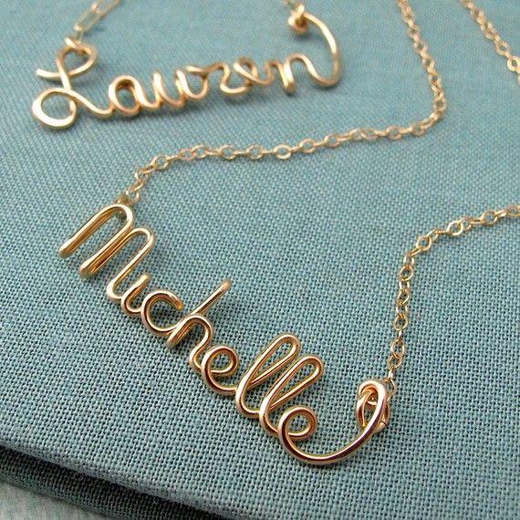 script necklaces