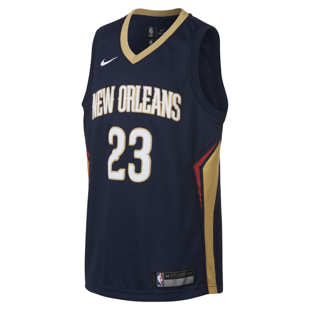 23a5f79130b Anthony Davis New Orleans Pelicans Nike Icon Edition Swingman Big Kids  NBA  Jersey Size S
