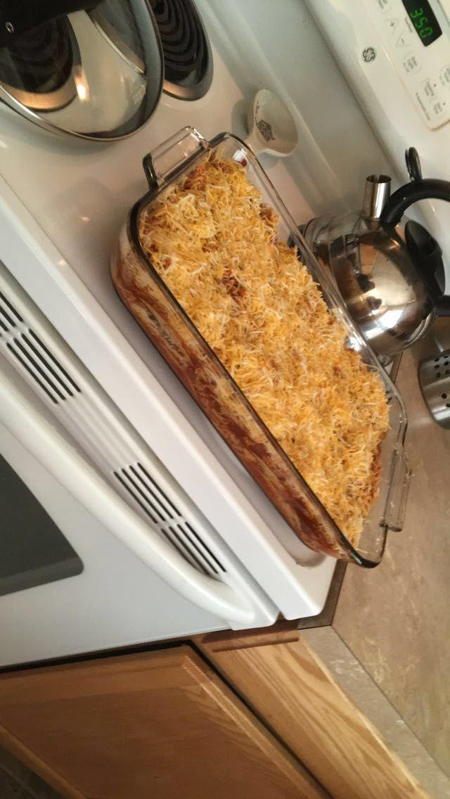 Low carb enchilada casserole