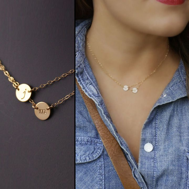 Best 25 Initial Necklace Gold Ideas On Pinterest