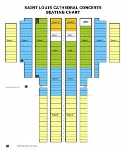 Cathedral COLORED Seating Chart