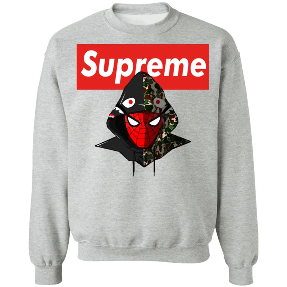 Supreme Hypebeast Spider Man Unisex Pullover Sweatshirt Boobeeshop Supreme Sweatshirt Sweatshirts Men Sweatshirt [ 1000 x 1000 Pixel ]