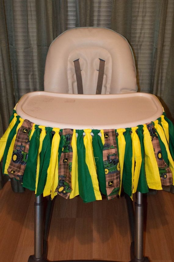 john deere tractor fabric garland for a high chair or wall decor