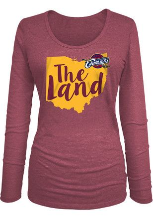 Cleveland Cavaliers Womens Maroon Tri-blend Women s Scoop  421eff7265