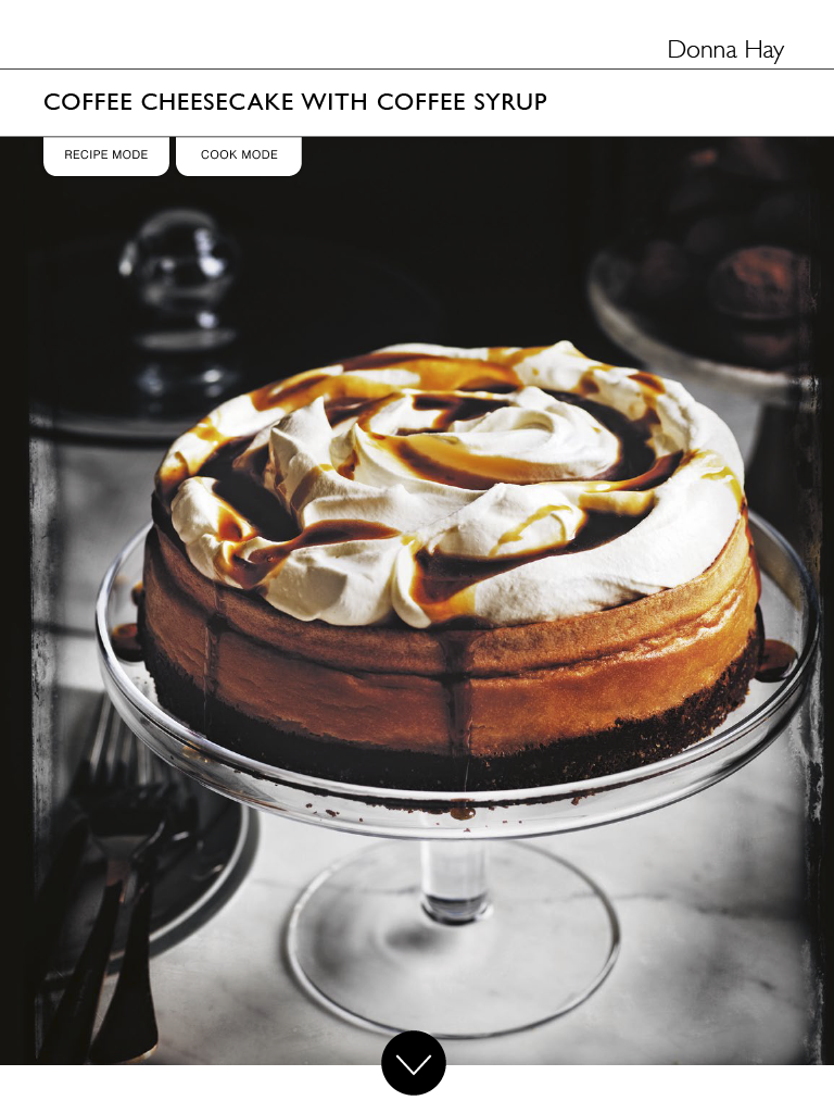 Waitrose Partners Food November 2018 Coffee Cheesecake