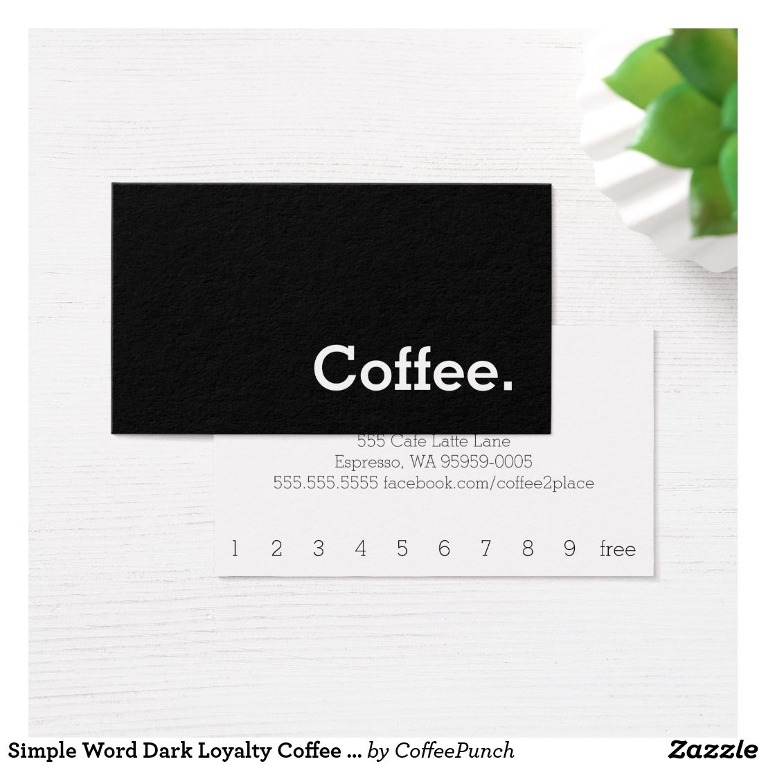 Simple Word Dark Loyalty Coffee Punch-Card Business Card | Stuff ...