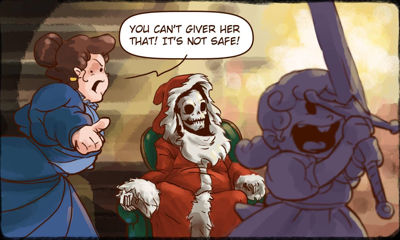 The Hogfather. HO.HO.HO. - post | Terry pratchett, Terry pratchett's  hogfather, Funny comic strips