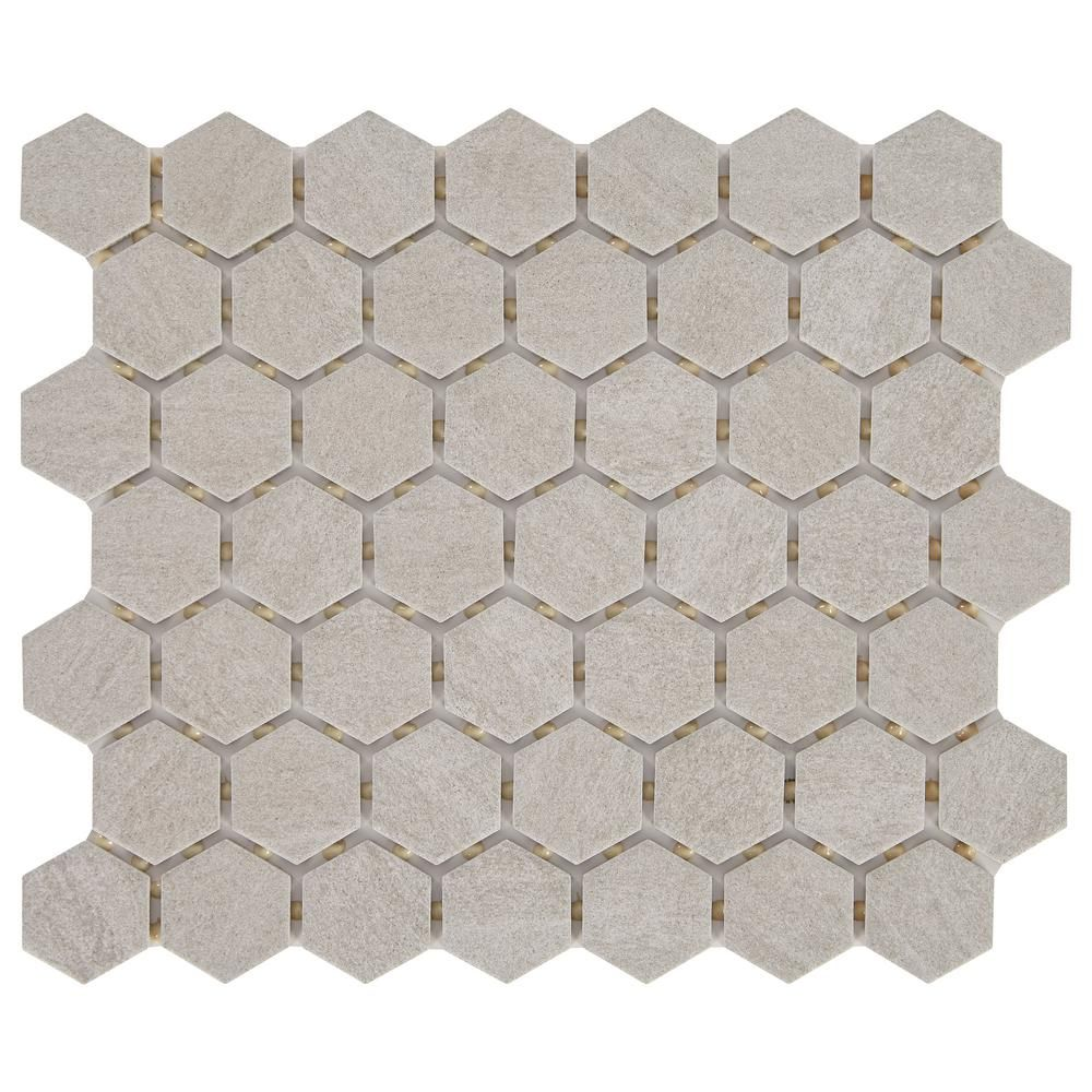 Daltile Nova Falls Gray 10 In X 12 In X 6 35mm Ceramic Hexagon