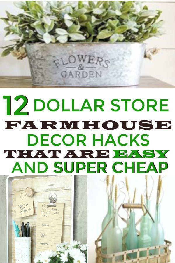 Photo of Farmhouse decor hacks are available from the Dollar Store. That would be great for …, #Farmhouse DecorHacks …