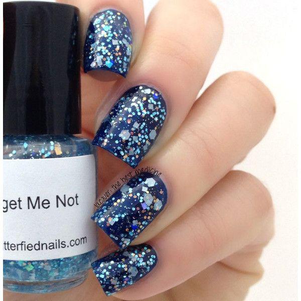 Forget Me Not Glitter Nail Polish Pale Blue Pastel Aquamarine 5 free ...