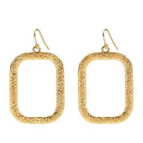 Marie Todd Alexa Gold Rectangle Hoop Earrings Marie Todd $100 00