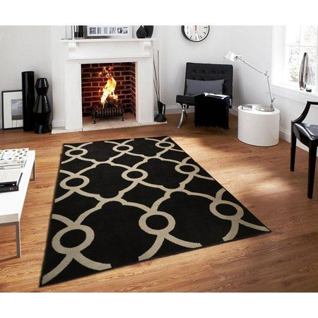 Modern Area Rugs On Clearance 5x7 Contemporary Black Gray Rug For