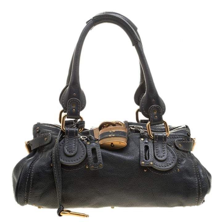 4aab68ba Chloé Paddington Black Leather Handbag in 2019 | Products | Black ...