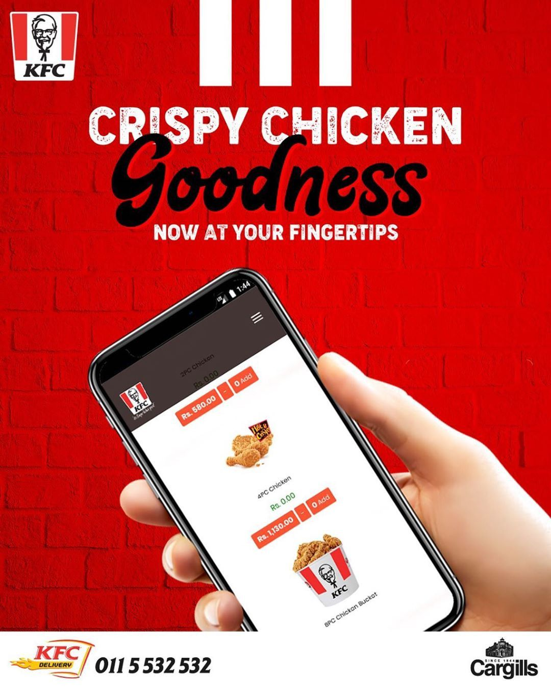 Order Online Through Www Kfc Lk And Get Your Favorite Crispy Chicken Delivered Right To Your Home Business Advertisement Sri In 2020 Crispy Chicken Kfc Order Online