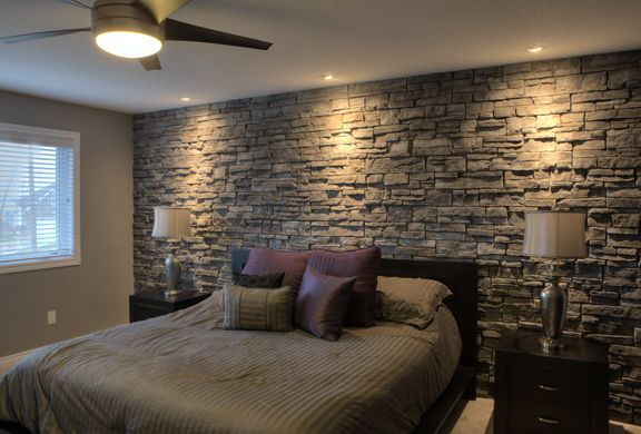"""Do It Yourself Home Design: Stone Accent Wall ., """"BED"""" Could Be More"""