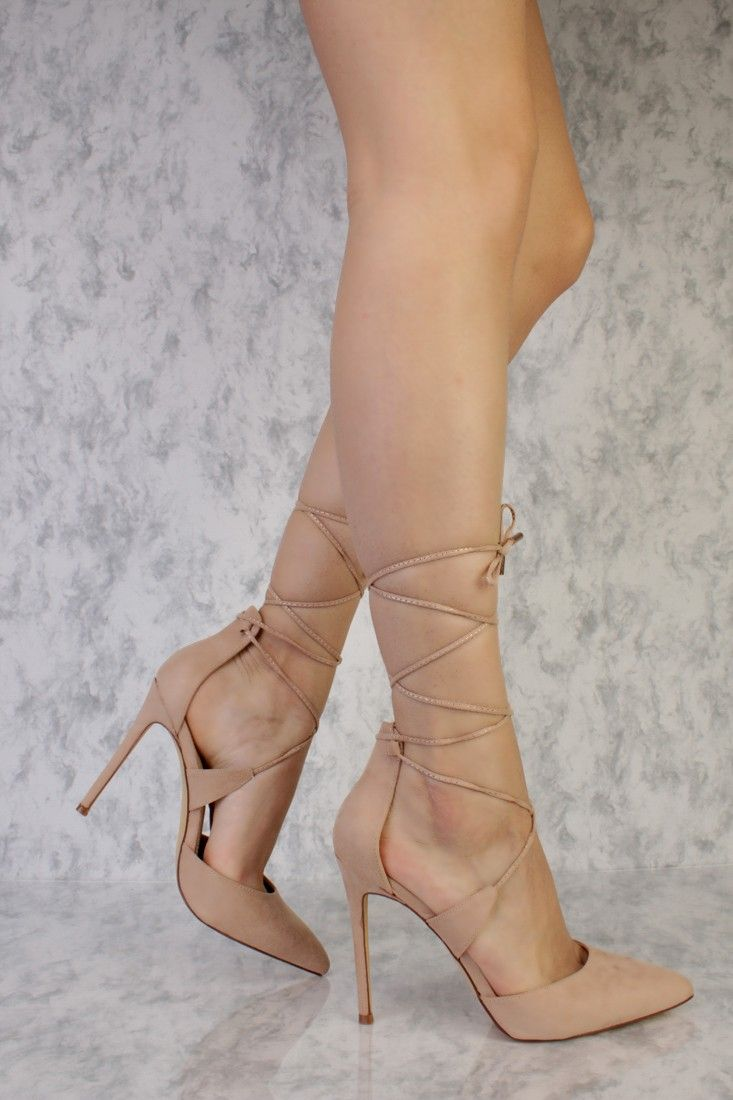 549cc0b5d4b Go out looking sexy with these sexy and stylish single sole high heels and a  must have this season! The features include a suede upper with a pointed  closed ...