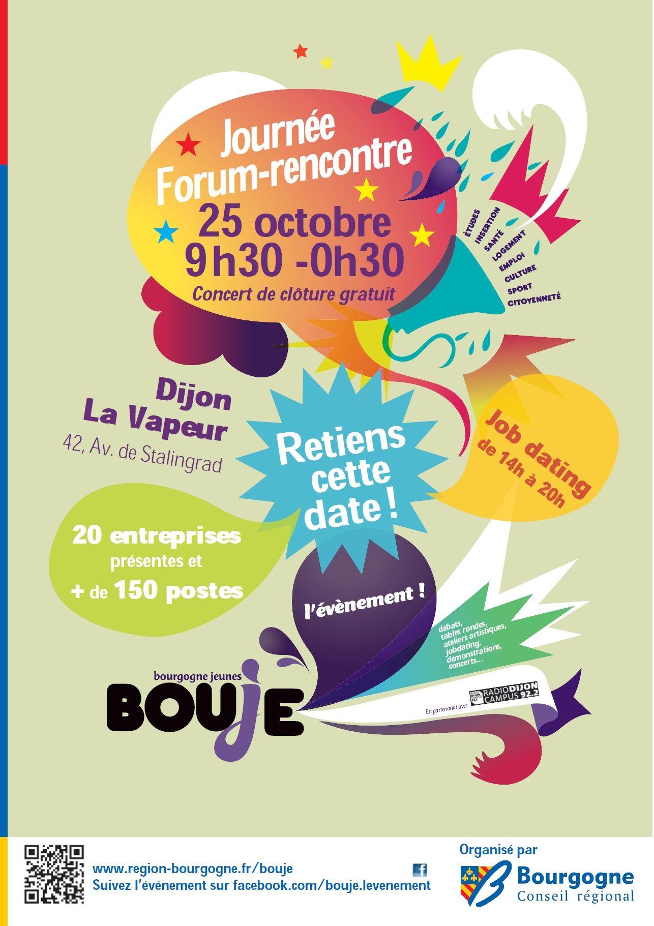 Conseil Régional de Bourgogne recrute Le 25 octobre Journée Forum-Rencontre de 09h30 à 0h30
