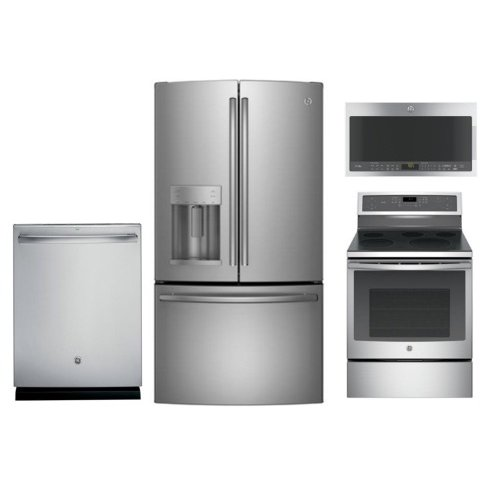 Ge 4 Piece Kitchen Appliance Package With Electric Range