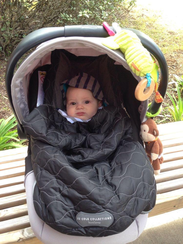 KEEP BABY WARM Baby Bunting JJ Cole Bundleme Stealth Infant New Car Seat Stroller Jogger Sack