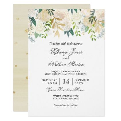 Elegant watercolor floral gold wedding invitation gold weddings elegant watercolor floral gold wedding invitation gold weddings invitation card design and wedding invitation cards stopboris Image collections