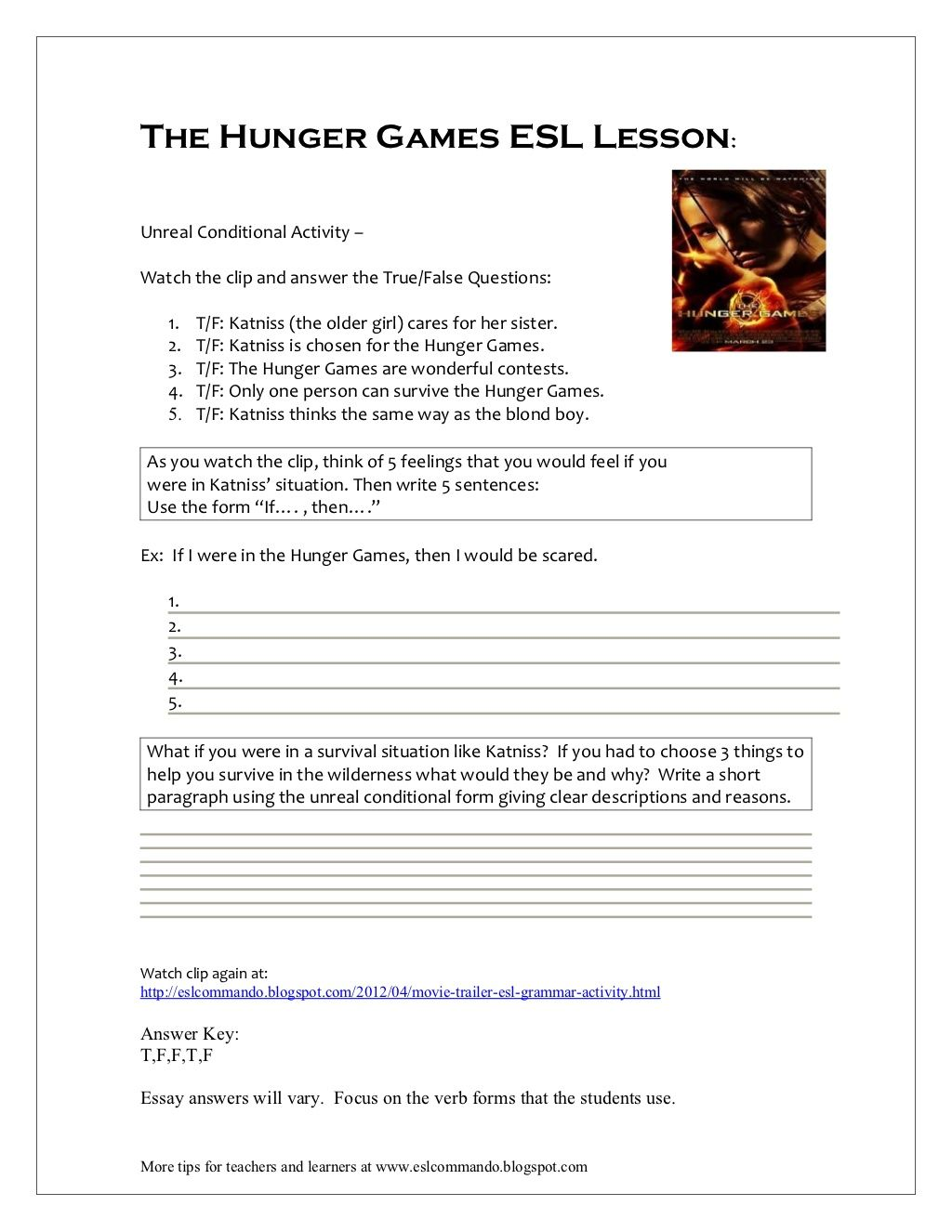 resume The Hunger Games Resume the hunger games esl lesson by phricee via slideshare ideas essay on book lesson