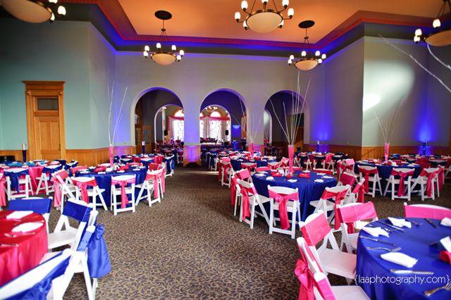 Pin By Amber Green On Wedding Decor Ideas Royal Blue Wedding Fuschia Wedding Cobalt Wedding