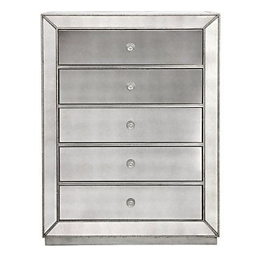 Elegantly reflect your surroundings with Z Gallerie s Omni Mirrored 5  Drawer Chest   1 299 00. Elegantly reflect your surroundings with Z Gallerie s Omni