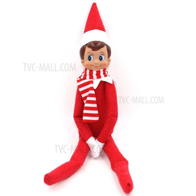 Pocket Sized Christmas Elf With Scarf On Shelf Doll Christmas