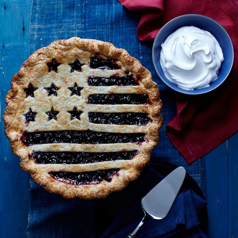 Happy Fourth of July! A showstopper at any summer barbecue, this patriotic pie is a cinch to assemble using our flag piecrust cutter and prepared blueberry filling.  All-American Blueberry P...