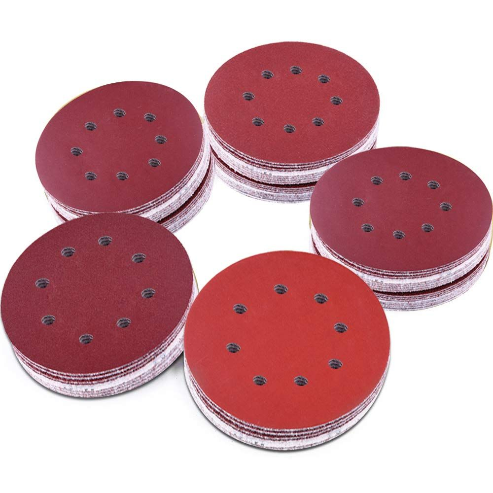 Austor 100 Pieces 8 Holes Sanding Discs 5 Inch Hook And Loop 1000 1200 1500 2000 3000 Grit Sandpaper Assortment For R Cool Things To Buy Wood Polish Sanding