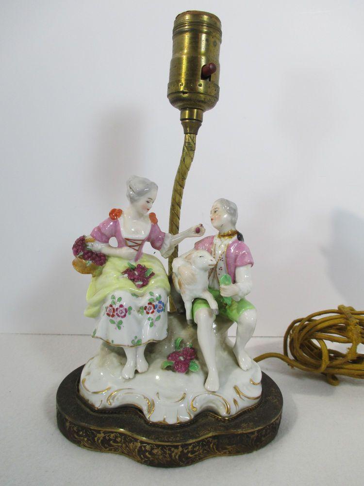 Lamp rewiring a women wire center lamp table desk victorian man woman figurine brass base parts needs rh pinterest co uk lamp greentooth Gallery