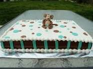 Monkey cake for his welcoming home party.