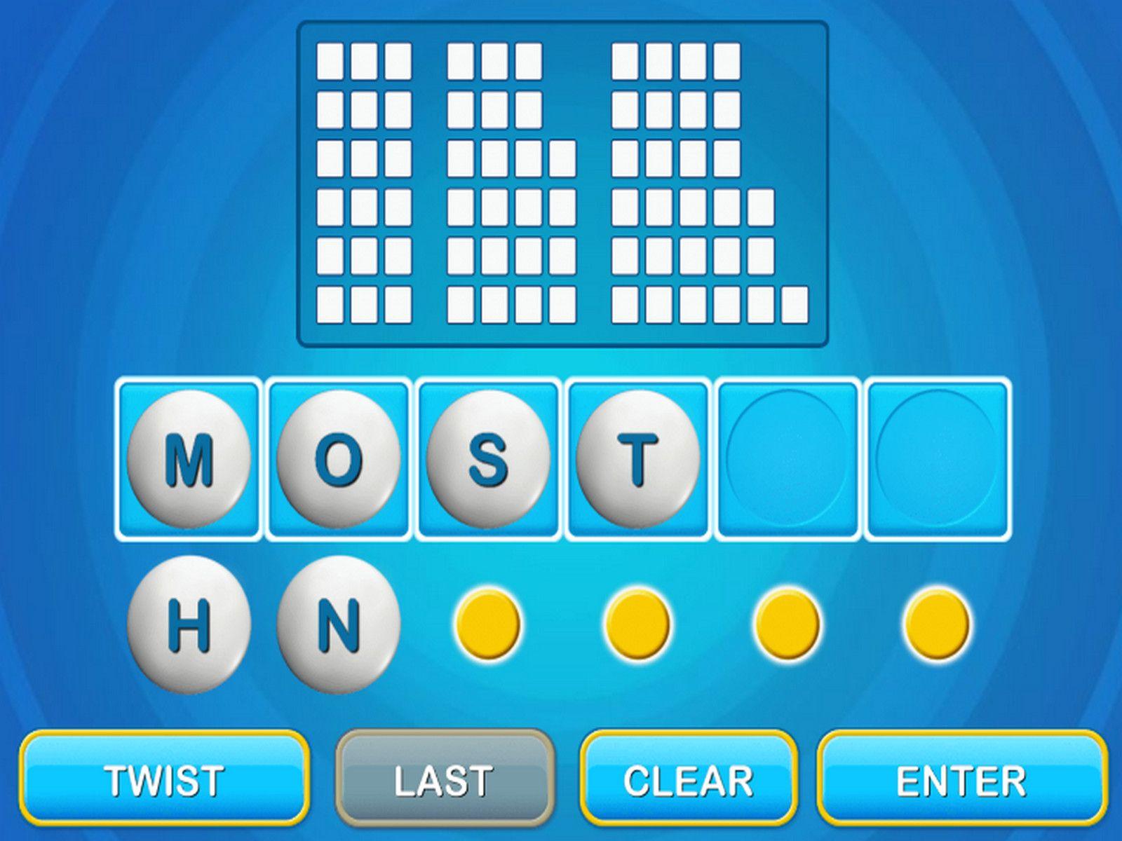 Text Twist 2 Twist, Play online, Texts