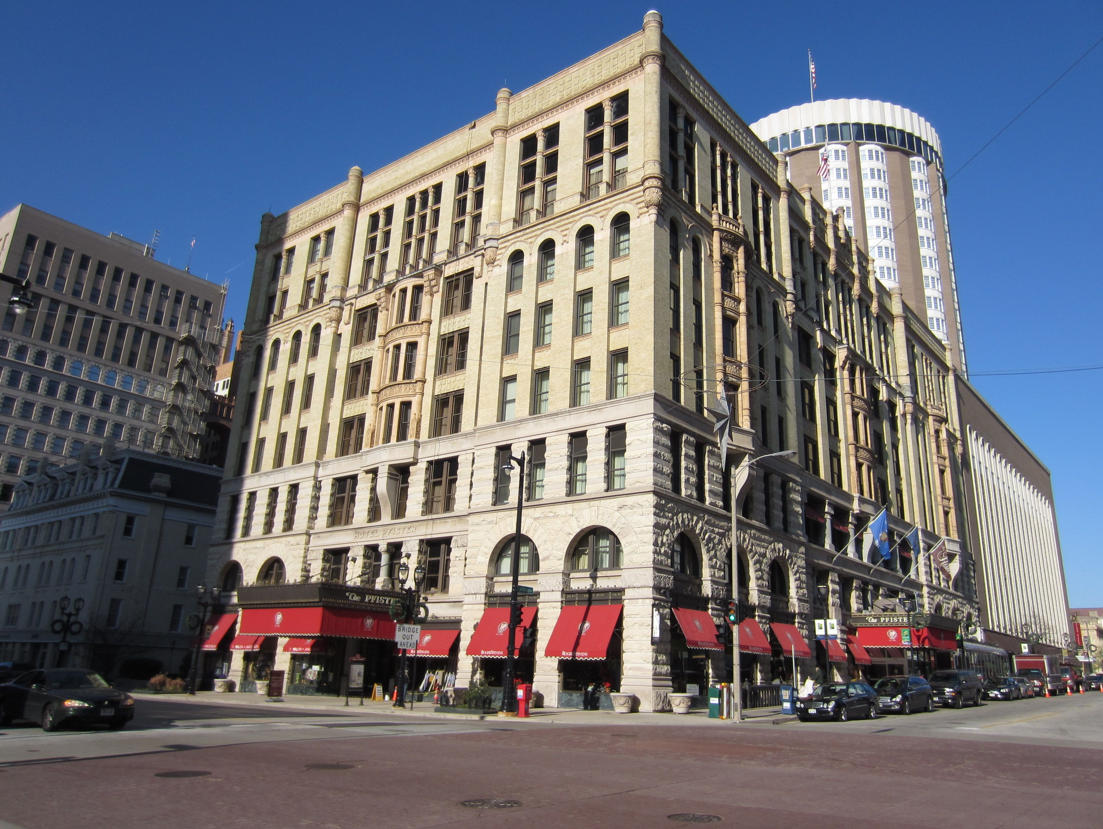 The Pfister Hotel As Completed In 1893 On Wisconsin Avenue Built