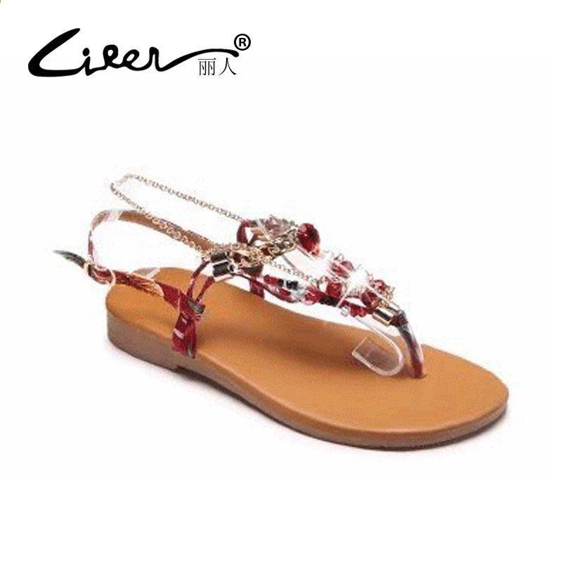2018 nuovi sandali delle donne estate Bohemia sandali piatti