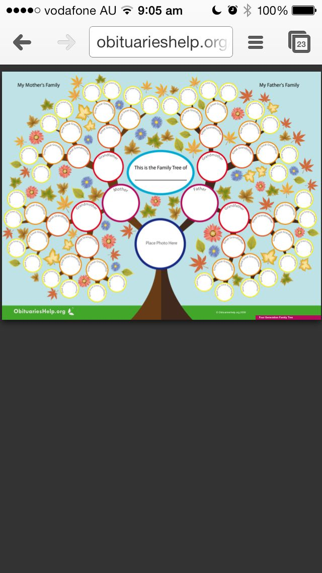 Family Tree Templates Fantastic Site Httpobituarieshelp