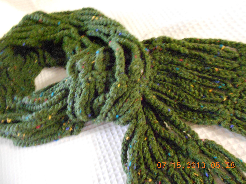 Crocher bufanda en cadenas | bufandas | Pinterest | Patrones libres ...