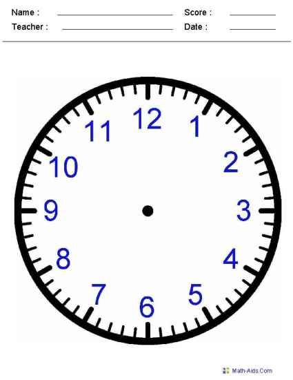 printable time worksheets for learning to tell time For the - time worksheets