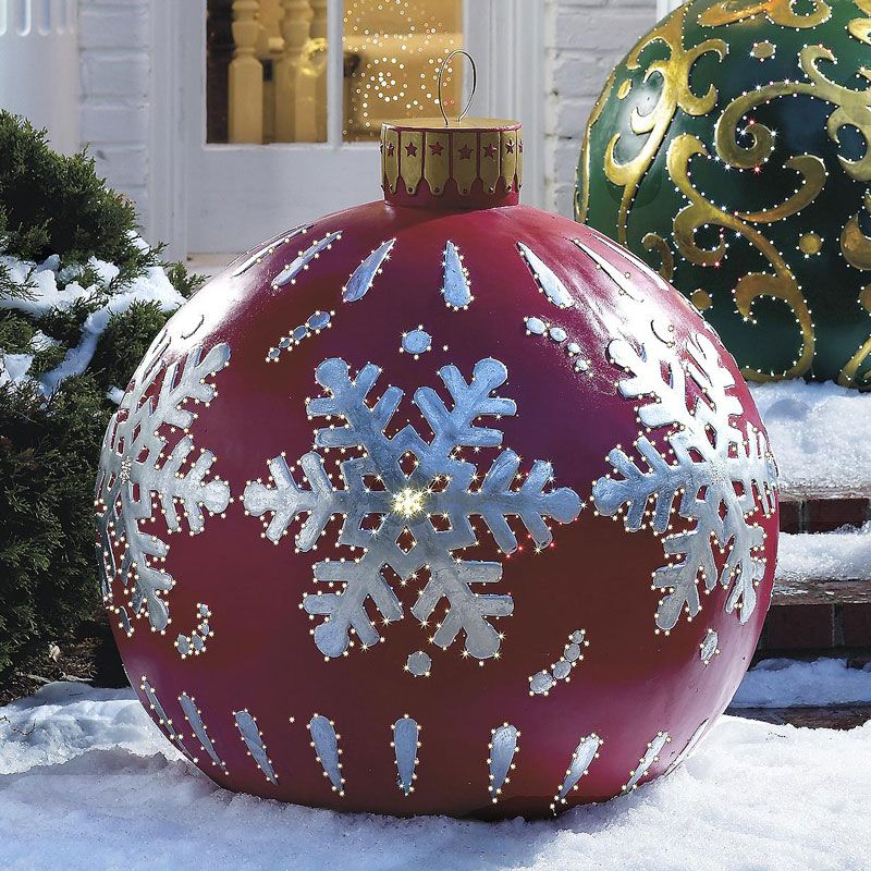 Massive Outdoor Lighted Christmas Ornaments vianoce Pinterest - outside christmas decorations sale