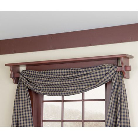 Shelf Above Window Doubles As A Curtain Rod I Lovvveeee This Red With In