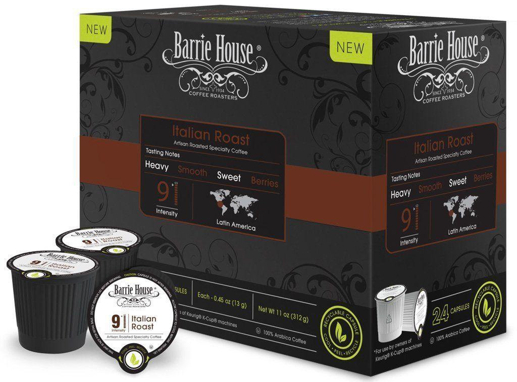 Barrie house italian roast single cup capsule 24 count
