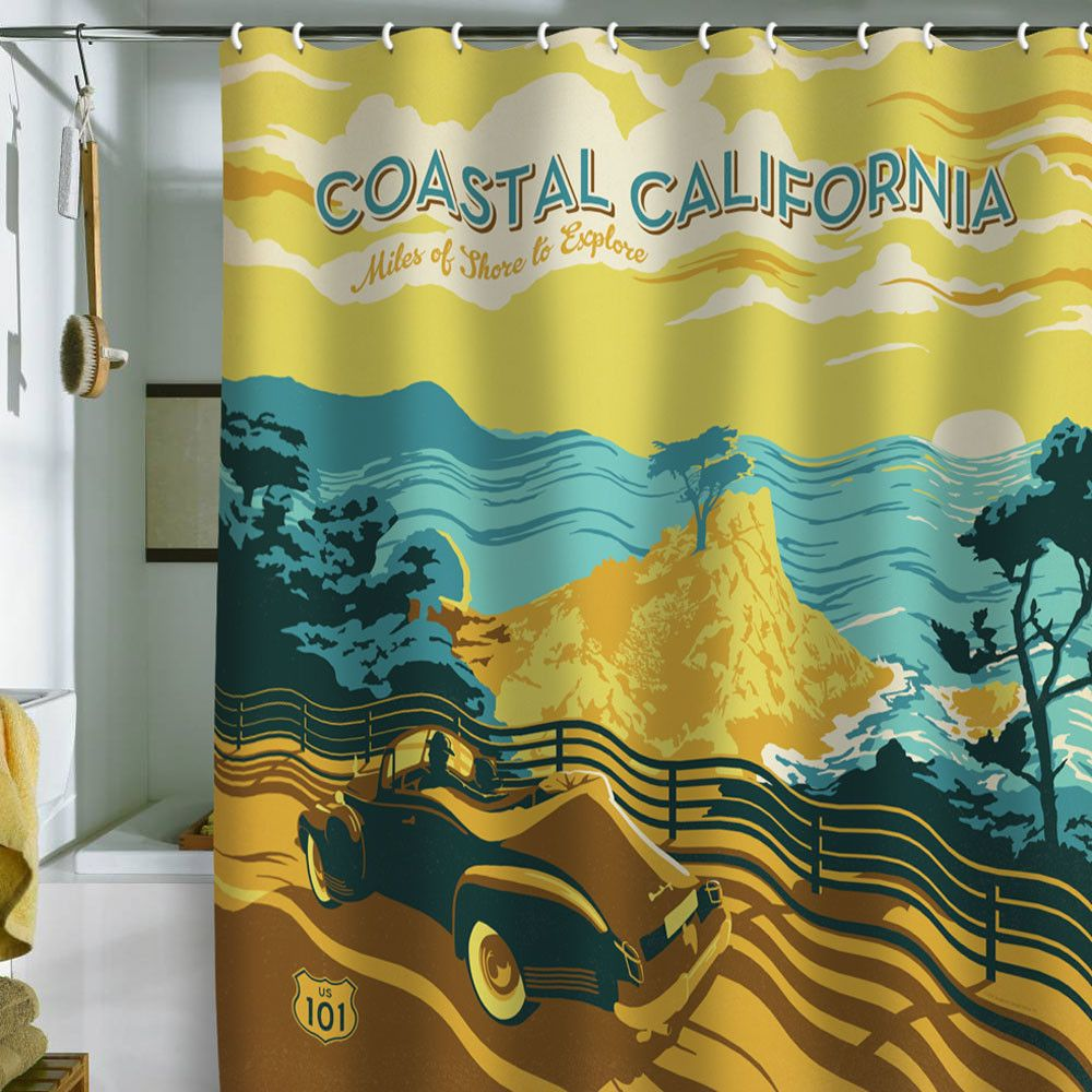 Anderson Design Group Coastal California Shower Curtain