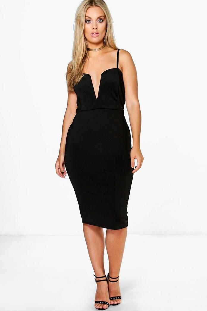Plus Soraya Plunge Midi Dress  5a181c0fa