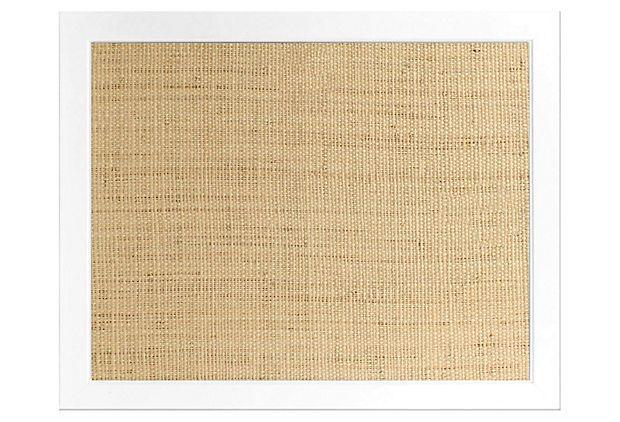 White Frame Bulletin Board, Raffia on OneKingsLane.com | office ...
